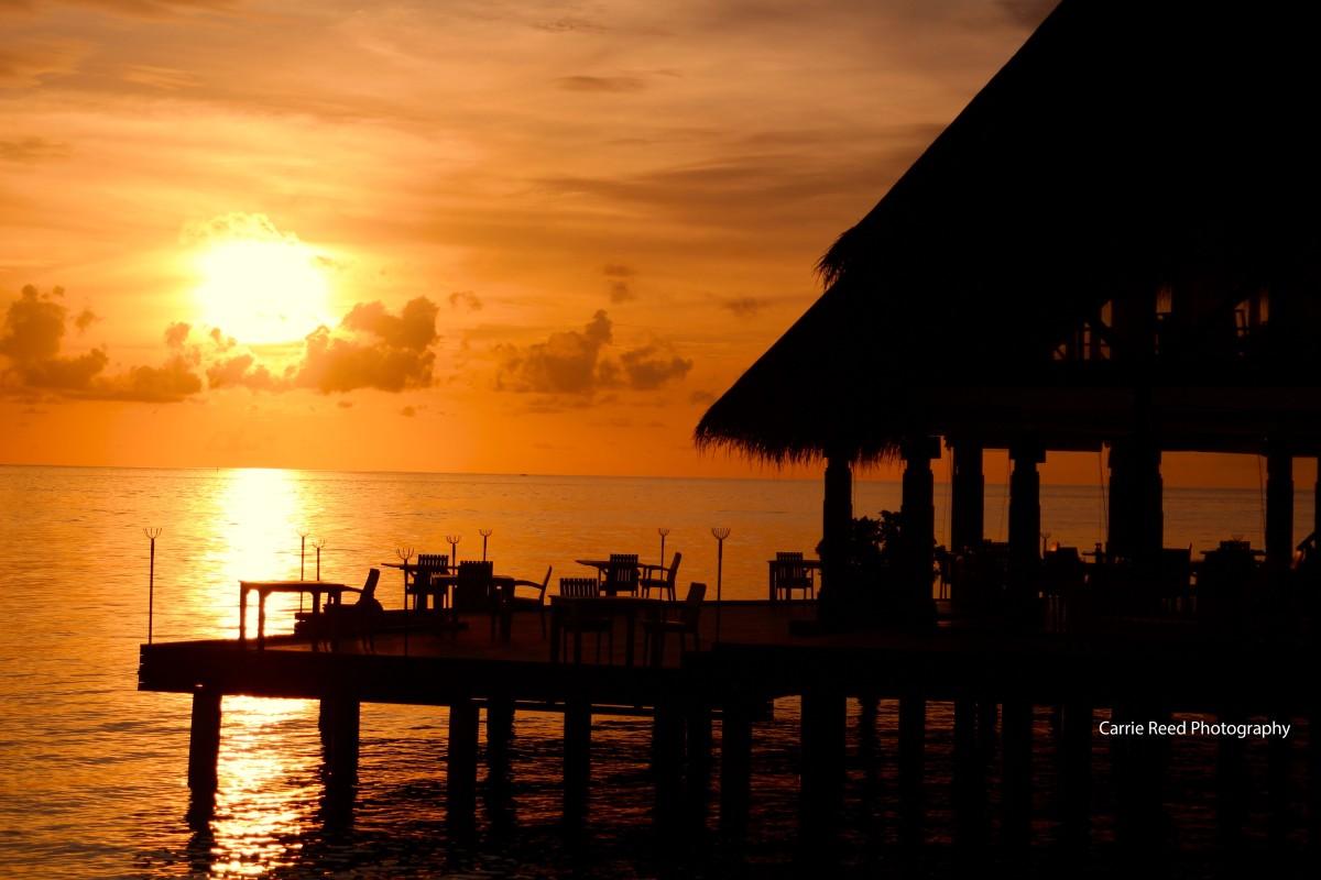 Maldives_Sunset at Restaurant