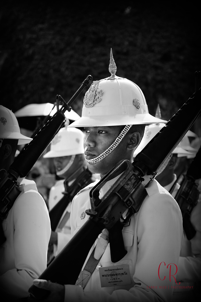 Bangkok_Thai Soldier_bw edit
