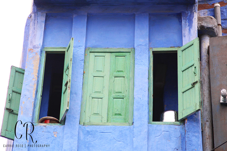 Jodhpur Houses Blue with Green