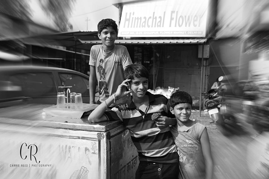 three boys at flower market wm